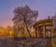 Павловск, колоннада Аполлона зимой