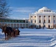 Павловский дворец зимой